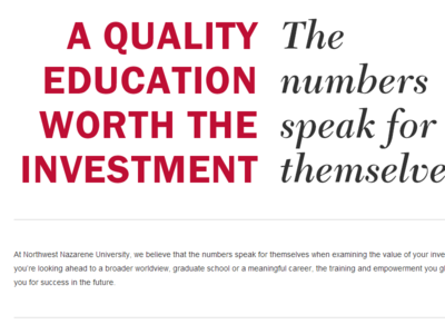 Value & Investment Typography