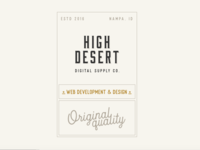 High Desert Digital Supply Co. Inverted