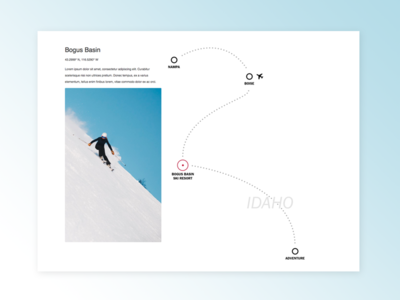 Bogus Basin map boise skiing ski basin bogus idaho
