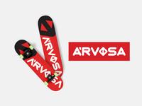 Arvosa | Logo & Branding Design for Skateboard Brand urban skate skateboarding wordmark logo wordmark brand design logo design skateboarder skater branding design skateboard minimal logo design typography branding flat type lettering