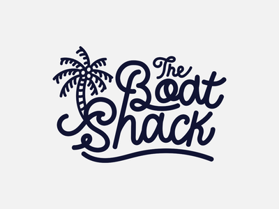 Boat Shack design minimal handdraw branding type font lettering line art vector flat typography logo illustration
