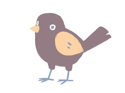 cute bird design illustration logo branding bird icon cute animal cute violet packaging editorial flatillustration birdillustration bird