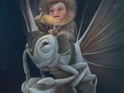 Explorer animals arte digital photoshop creación de personajes ilustración character design insect