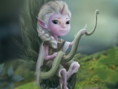 Nature creación de personajes photoshop arte digital fairytales fairytale elf nature fairy