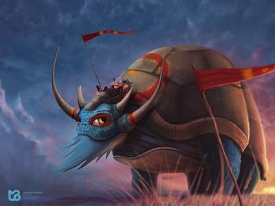 CleptoTurtle - Juan Martín Bueno digital art photoshop viking giant clepto turtle