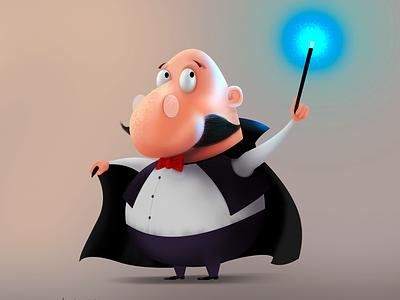 The magic of Ludovico mago design characters illustration magician magic