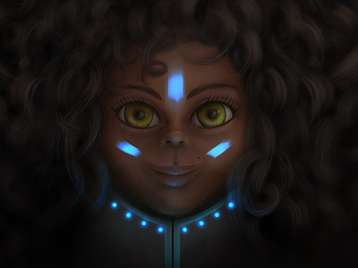 Black skin woman space skin black