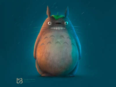Totoro by me character art character concept illustration anime totoro