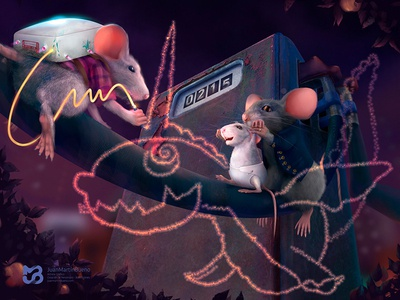 ratoncitos dragon illustration rats