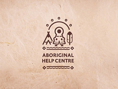 Aboriginal Help Centre Logo native amerindian folk aboriginal logo