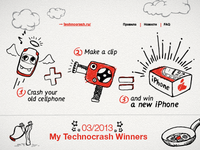 Illustrations for a cellphone crash test contest