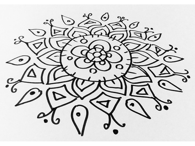 Rangoli design on paper