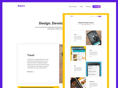 Mobile app development Home page design