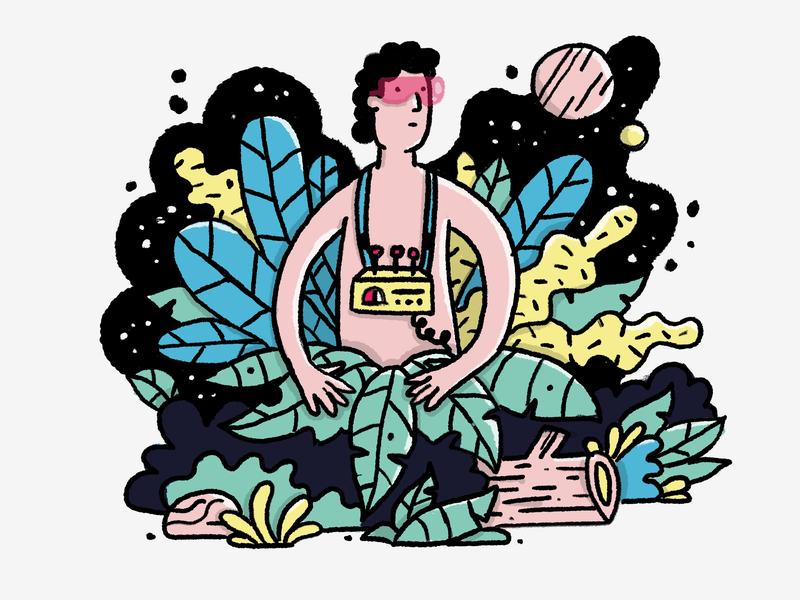 Vr Jungle characer ipad forest hidden illustart natureboy nature virtual assistant vray