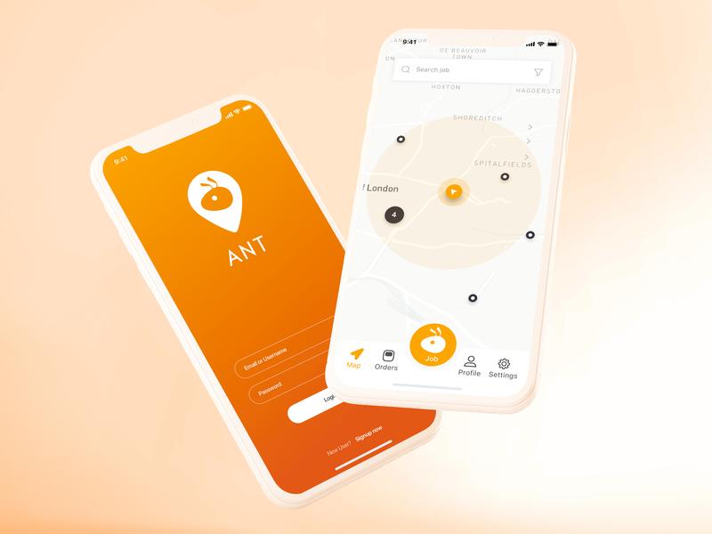 Ant App flat branding logo app ux ui