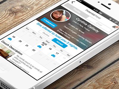 Hospitality Travel App - Profile View mobile ios travel sharingeconomy