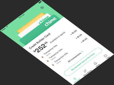 Wallet Concept for Chime Home screen