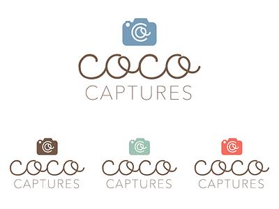 Coco Captures Photographer's Logo logo photography camera simple script