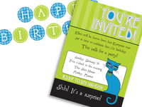 Le Chat Parisian Invitation