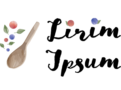 Lirim Ipsum watercolor goodlife illustration lettering design logo