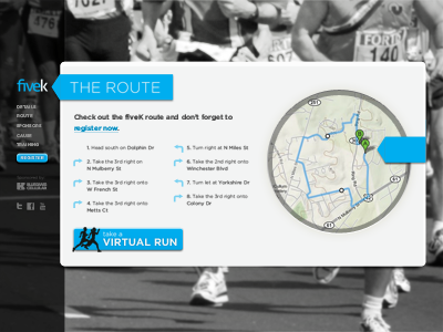 5k running gotham directions map sidebar
