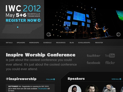 Inspire Worship Conference conference design interstate web