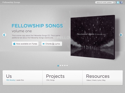 Fellowship Songs website music
