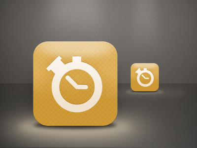 Babytime iphone app timer helviticons icon stopwatch