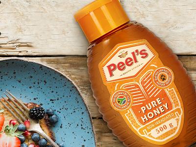 Peel's Honey Upgrade vibrant illustration strategy branding pattern south africa honey packaging design