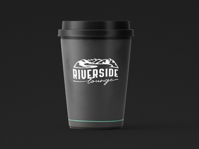 Riverside Lounge coffee lounge swiss coffee vector gentry illustration logo design coffee cup branding packaging design