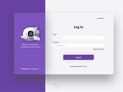 login design ui web