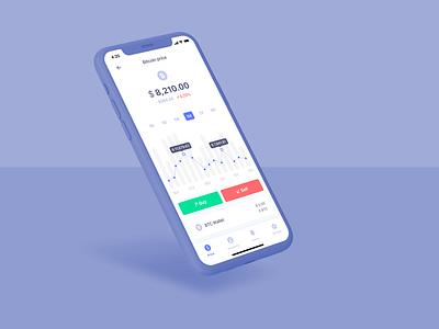 bitcoin ui app design