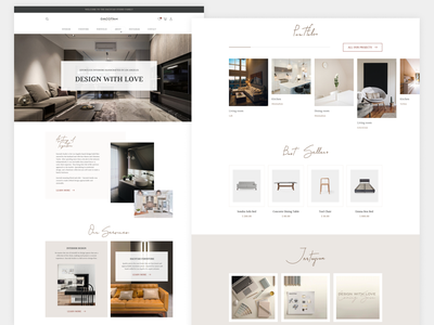 Homepage shop website minimal ux web ui design