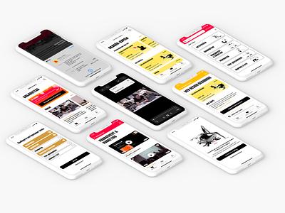 Online library ux app ui design