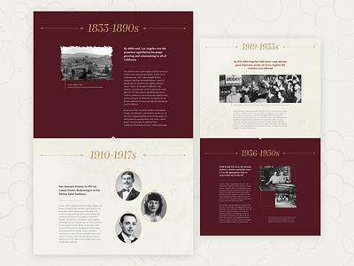 Histiry web ui design
