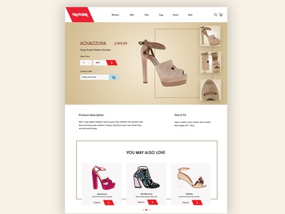 TK Maxx product page redesign