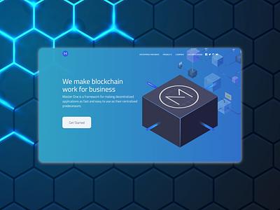 Landing page for blockchain project web ui front end design front end dev front end