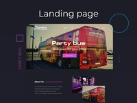 Landing page Party Bus