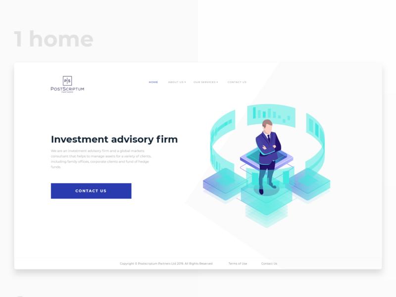 Website for PostScriptum consulting design web ux ui landing page website