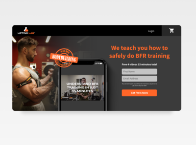 Landing page for liftinglaboratory.com