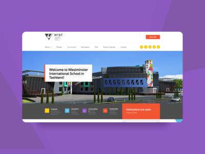 Website for Wist school in Tashkent