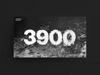 3900 Liters — Campaign webheader webdesign awareness campaign black and white campaign header typogaphy water effect