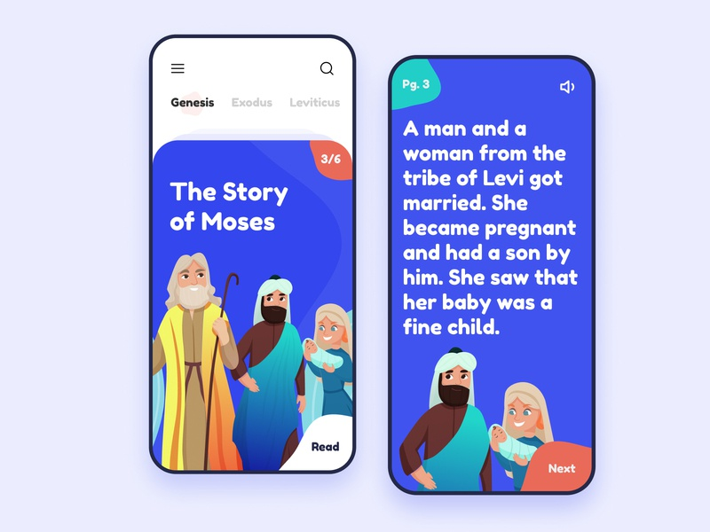 Bible Story for Kids vector app design product mobile minimal figma ux ui