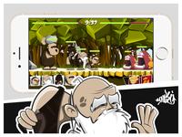 """""""Cavemanz"""" Mobile Game Concept Art"""