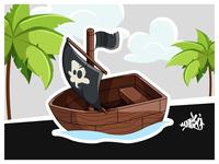 """Pirate"" Mobile Game Concept Art"