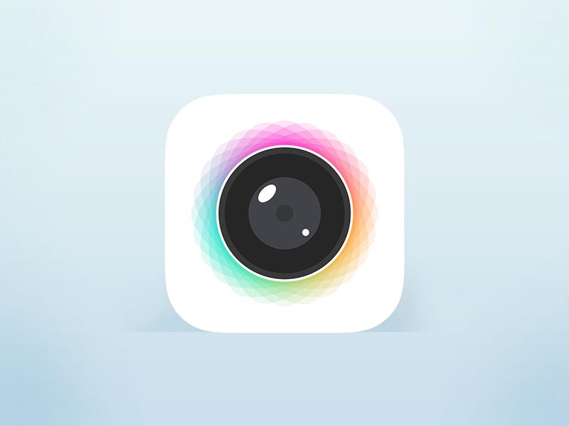 StoryCam appstore ios clean flat color app camera icon