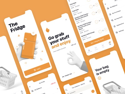 Fridge App - Saas eshop saas app app application applifting fridge ux uiux