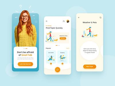 Small Talk App product design application introvert talk app product ux ui