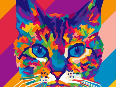PET commision cats pet pets illustration abstract design colors colorful abstract art popart geometric beautiful abstract wpap