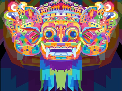BARONG animals barong tshirts tshirt design commission commissions collage commission open design illustration abstract design colors colorful abstract art popart geometric beautiful abstract wpap